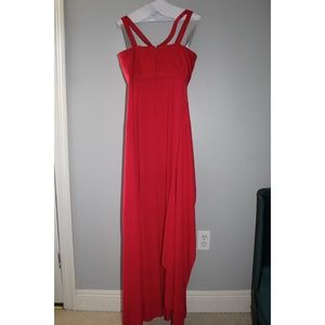 BCBGMaxAzria Dresses - BCBG Cut out Red-Pink Gown